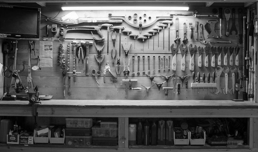 tool wall photo